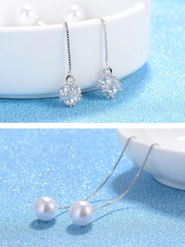 beads Pendant Ear Line Earrings