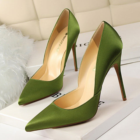 Sexy Pointed-Toe Slim Heel Wedding Party Shoes