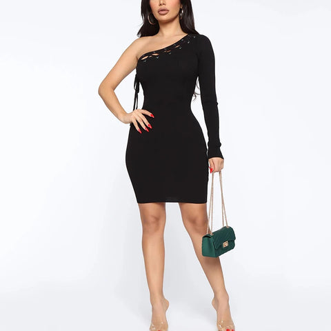 Female fashion solid color package hip strapless mini dress