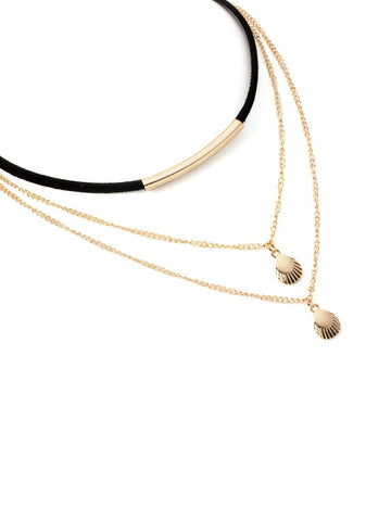Fashion Choker Metal Shell Necklace