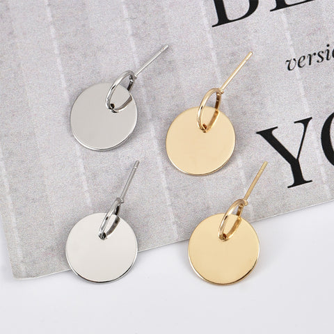 Europe and the United States popular Europe and America simple round earrings earrings women's earrings trend personality new C0168