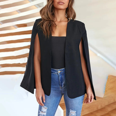 Women Fashion Capeless Sleeveless Blazer