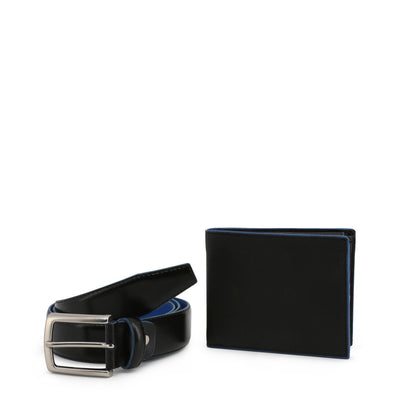 Men's wallet + belt, Made in Italy