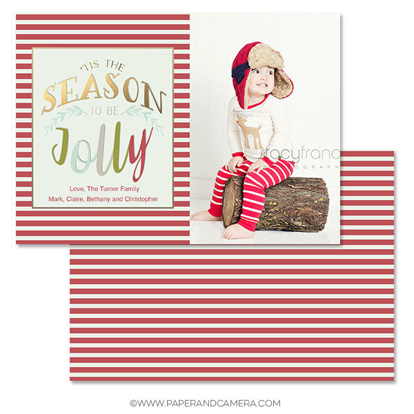 Jolly Season 5x7 Holiday Card