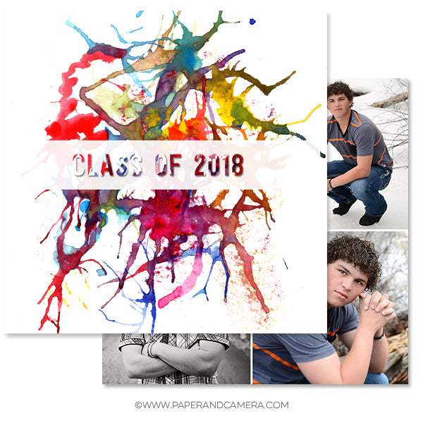 Abstract Grad Card Set