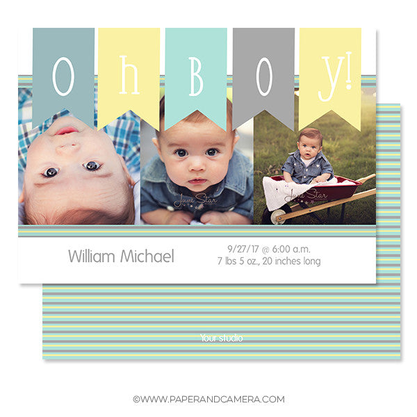 Baby Banner Birth Announcement