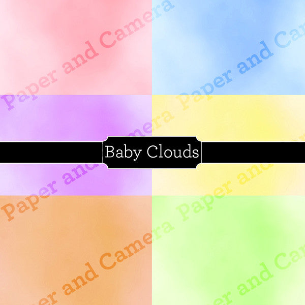 Baby Clouds Digital Backdrop Set
