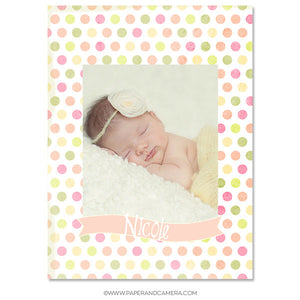 Baby Girl Sticky Album Template Set