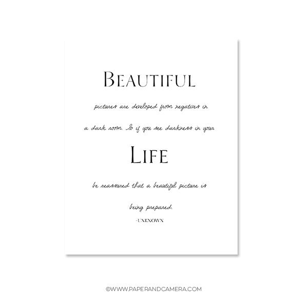 Beautiful Life Inspirational Graphic
