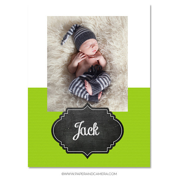 Chalk Board Sticky Album Template Set