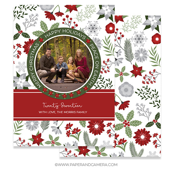Christmas Florals Card 5x7