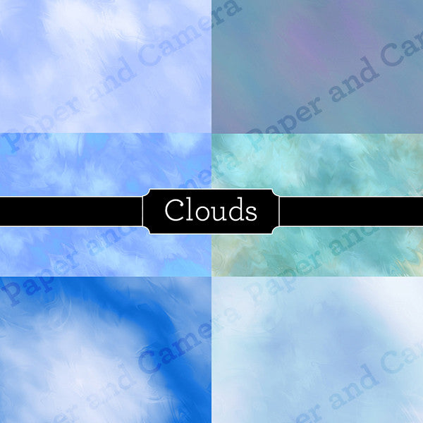Clouds Digital Backdrop Set