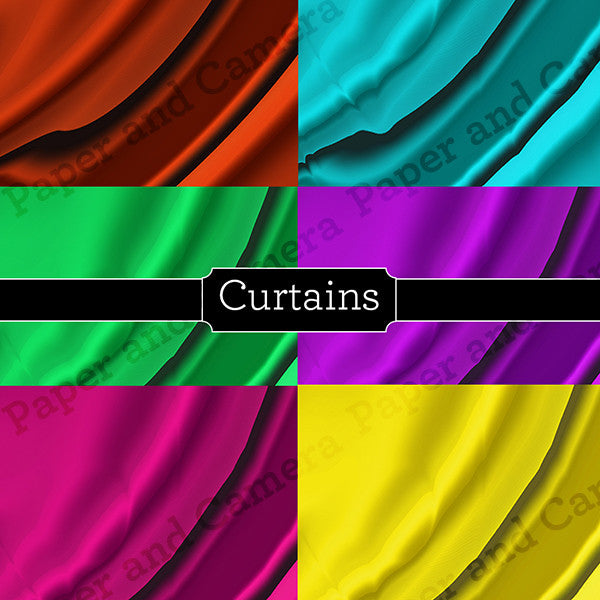 Curtains Digital Backdrop Set
