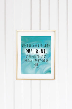 Be Different Inspirational Graphic