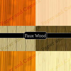 Faux Wood Digital Backdrop Set