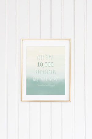 First 10,000 Inspirational Graphic
