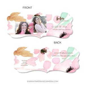 Floral Senior Rep Card