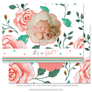 Girly Girl Birth Announcement