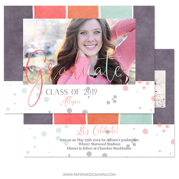Girly Grad Card