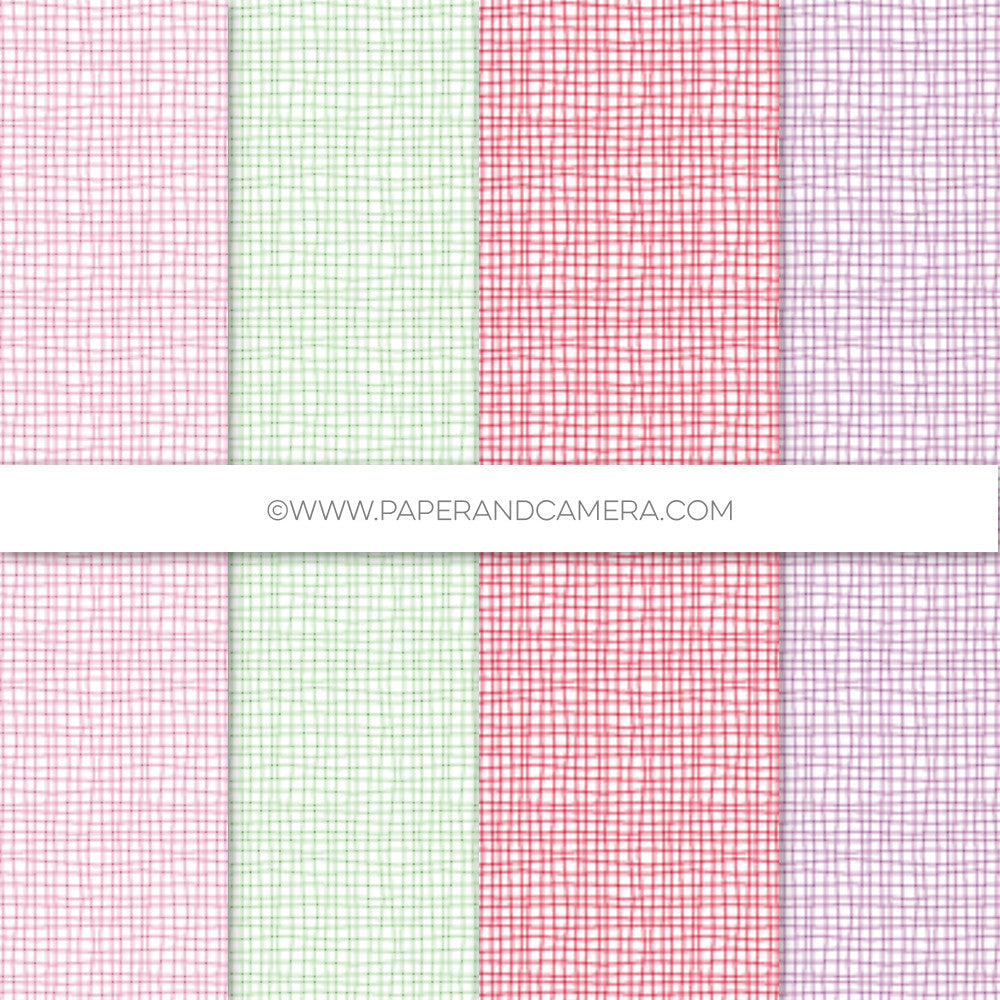 Girly Crosshatching Paper Pack