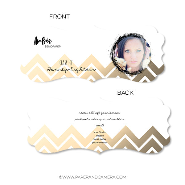 Gold Chevron Senior Rep Card
