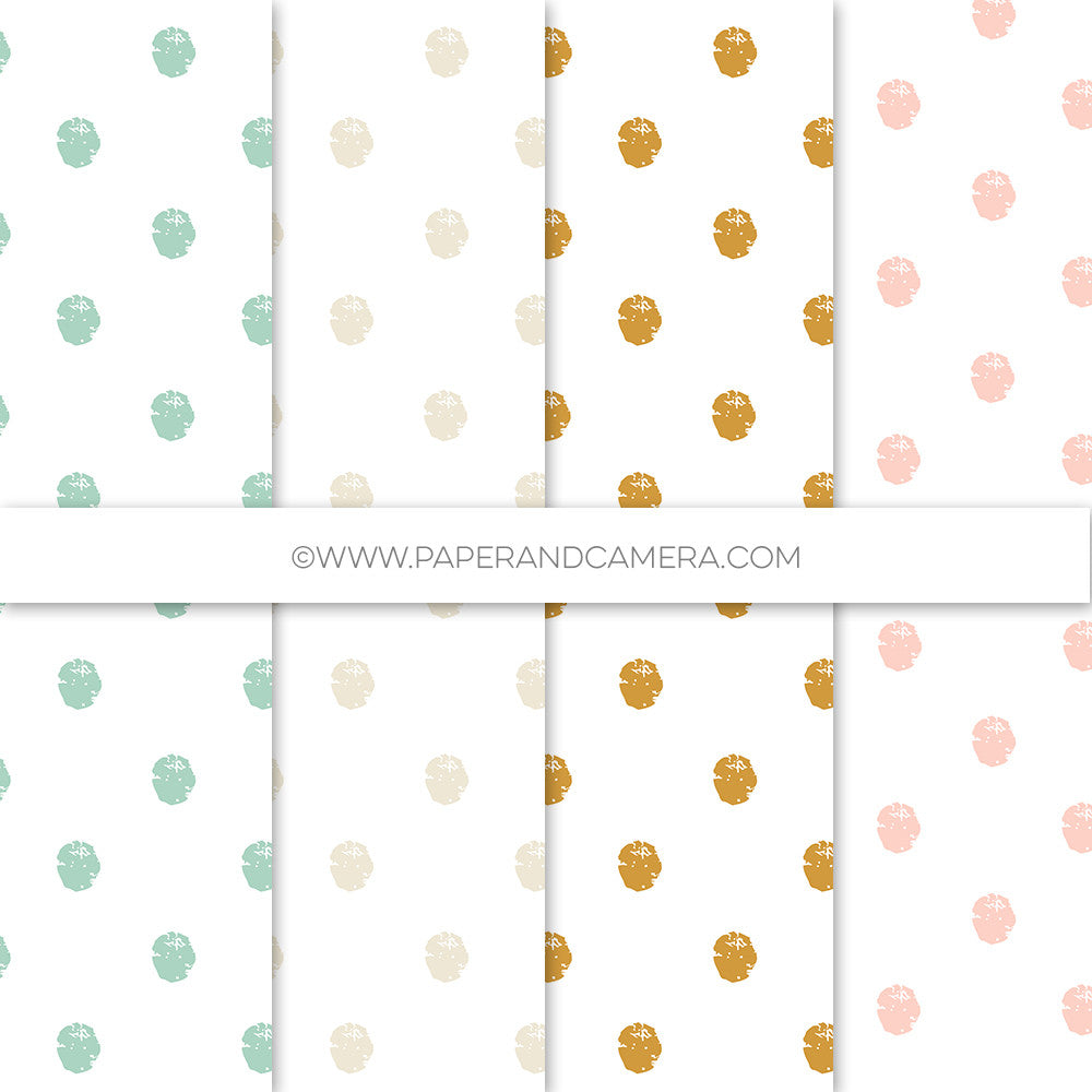 Goldy Luxe Distressed Polka Papers