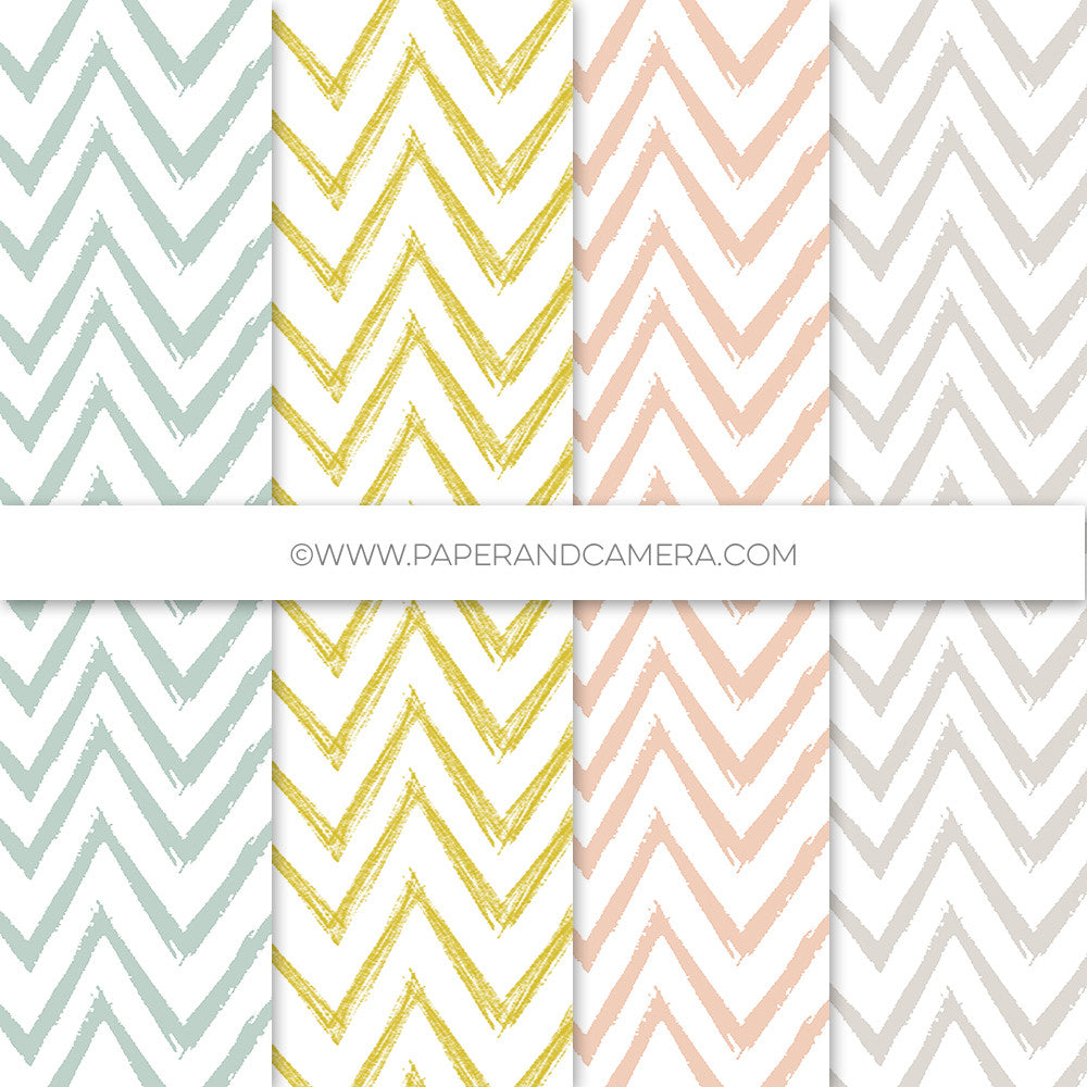 Hand Drawn Chevron Papers