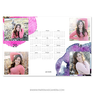 Happy Spring Calendar Card