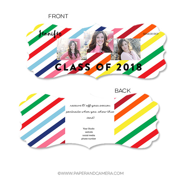 Happy Stripes Senior Rep Card