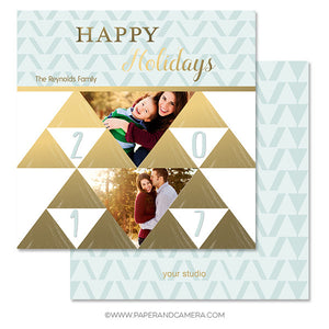 Holiday Triangles Card Set