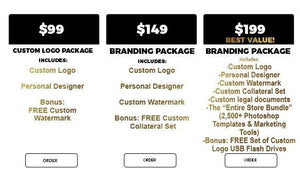 $99-$199 Custom Branding Logo Packages