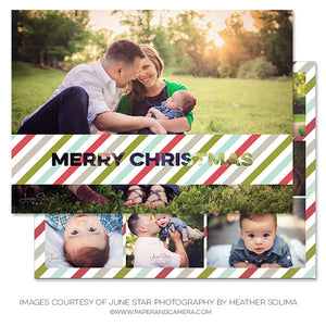 Merry and Striped 5x7 Card