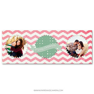 Merry Chevron Timeline Cover