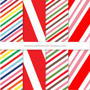 Merry Bright Stripes Paper Pack