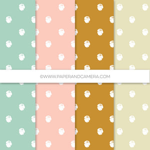 Mint to Be Distressed  Polka Patterns