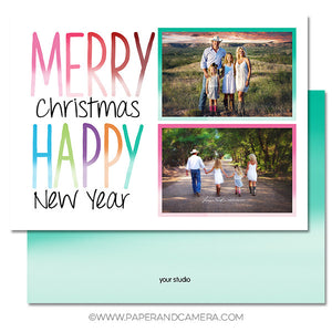 Ombre Holiday Card Set