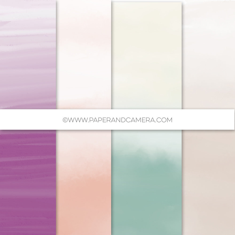 Ombre Watercolor Paper Set