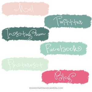 Paint Splash Social Media Icons