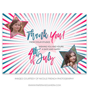 Patriotic Stars Thank you Graphic