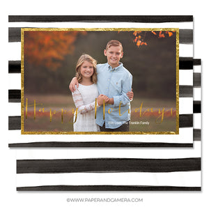 Posh Holiday Card 5x7