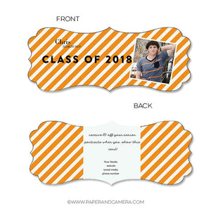 Preppy Stripes Senior Rep Card
