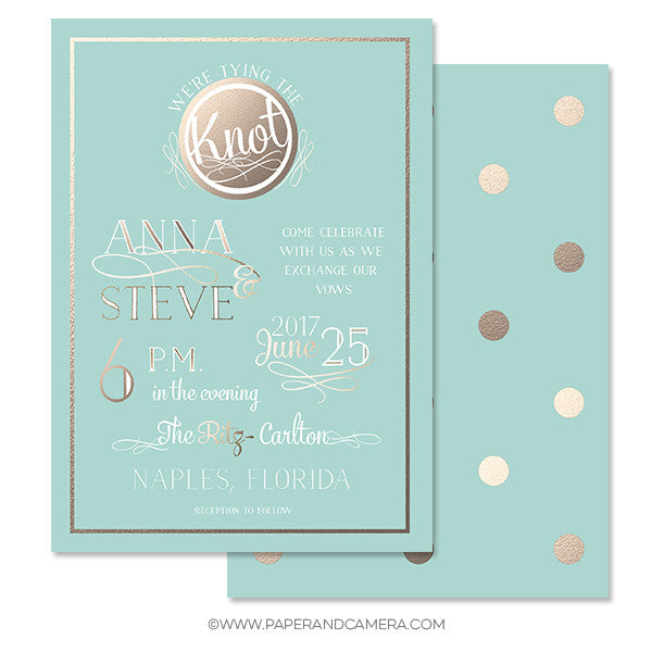 Ritzy Wedding Invitation 5x7