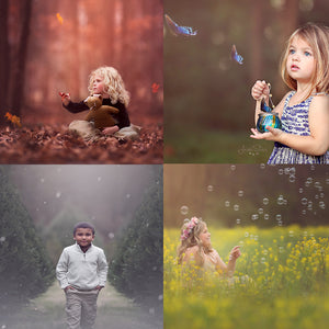 Seasons Photo Overlay Bundle for Photoshop