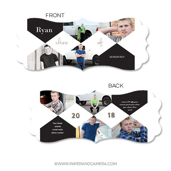 Shaped Senior Rep Card