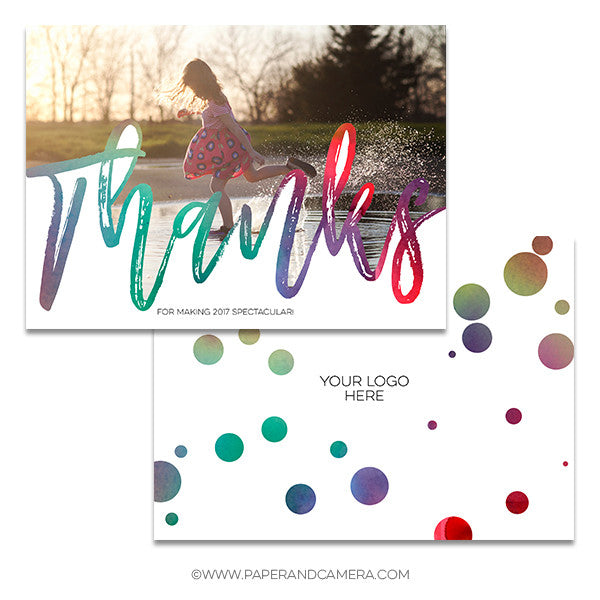 Splash Of Color Thank You Card