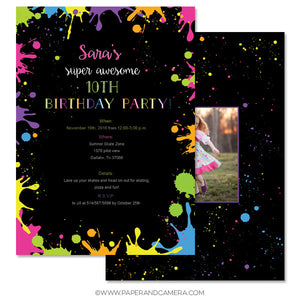 Splatter Party Card 5x7
