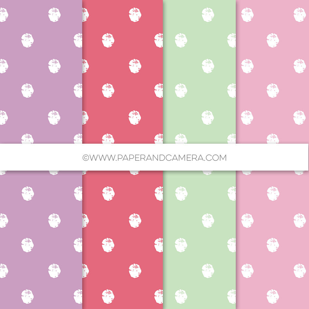 Spring has Sprung Distressed Polka Papers