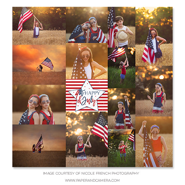 Stars and Stripes Collage
