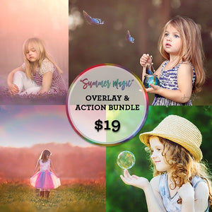 Summer Magic Overlay & Action Bundle (2019-v4.0) for Photoshop