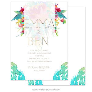 The Garden Wedding Invitation 5x7